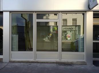 Devanture de magasin et porte sécurisée alu BPSC Océane