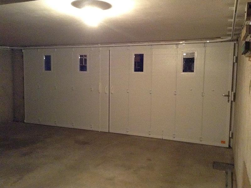 Pose d'une porte de garage coulissante BPSC Océane