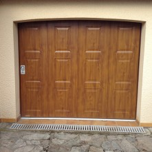 porte de garage coulissante en bois sécurisée BPSC Océane