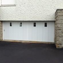 Réalisation d'une porte de garage PVC coulissante BPSC Océane
