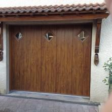 Porte de garage electrique en bois haut de gamme BPSC Océane