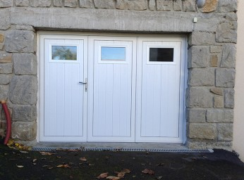 Porte de garage sécurisée 3 volets manuel BPSC Océane
