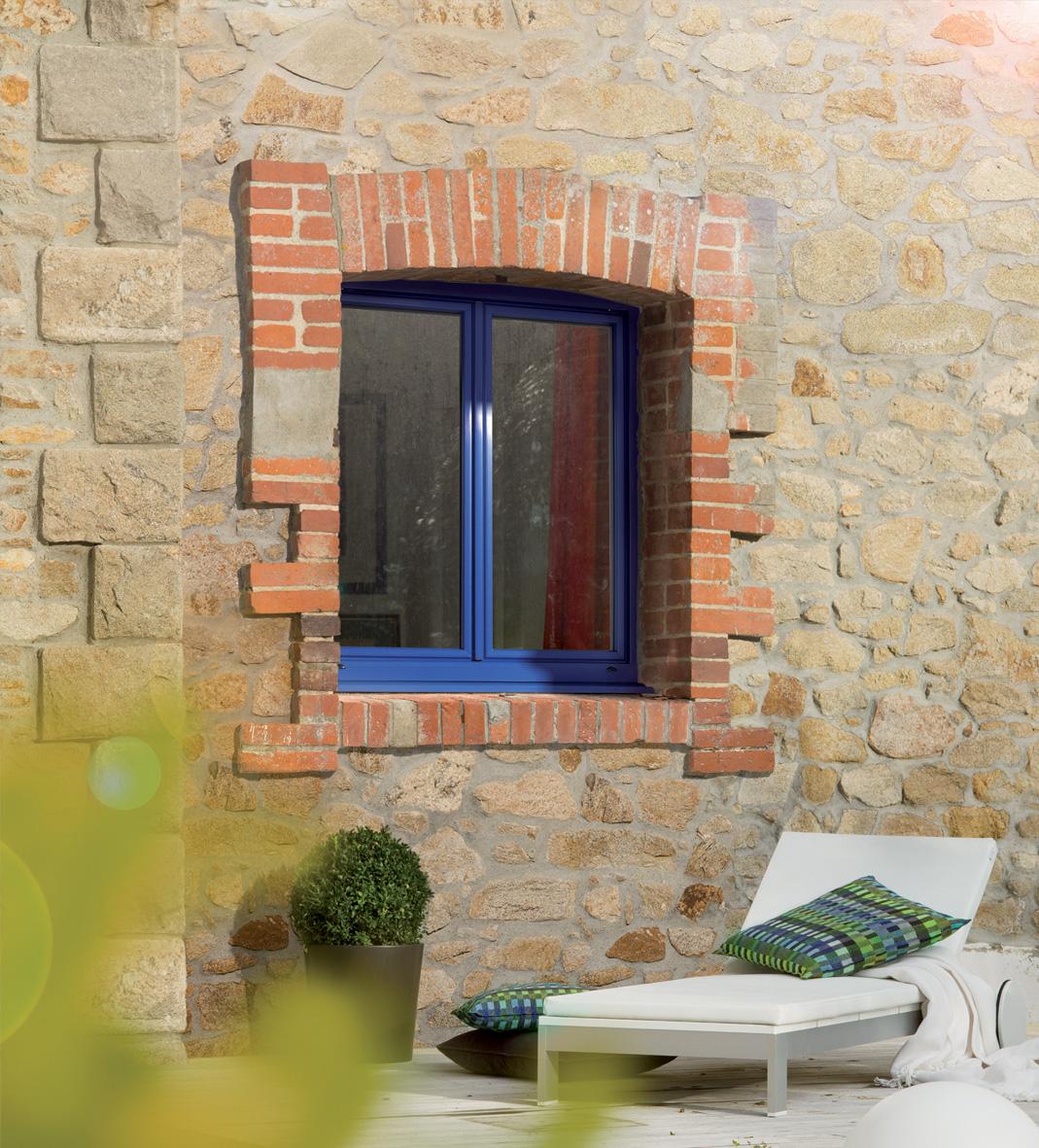 Fenêtre agrycolor bleu BPSC Océane