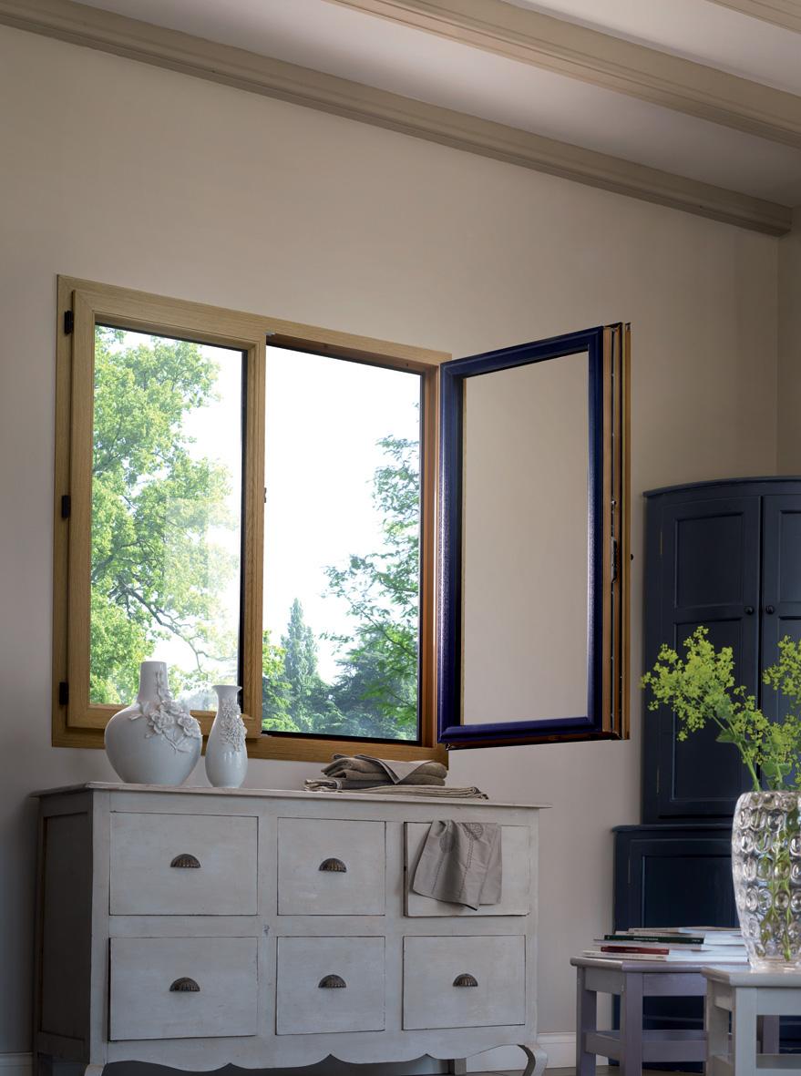 Fenêtre menuiserie pvc bois naturel BPSC OCéane