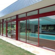 Baie vitrée et porte fenêtre pour pool house réalisé par BPSC Océane