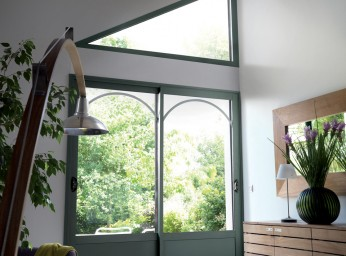 Porte-fenêtre menuiserie alu vert BPSC Océane