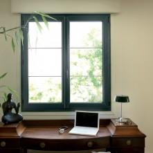 Fenêtre menuiserie alu vert BPSC Océane
